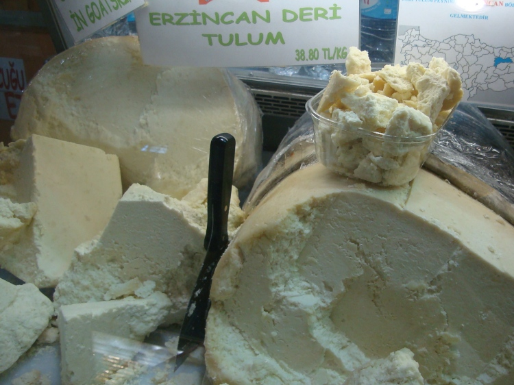 Checking Out the Cheese in Istanbul