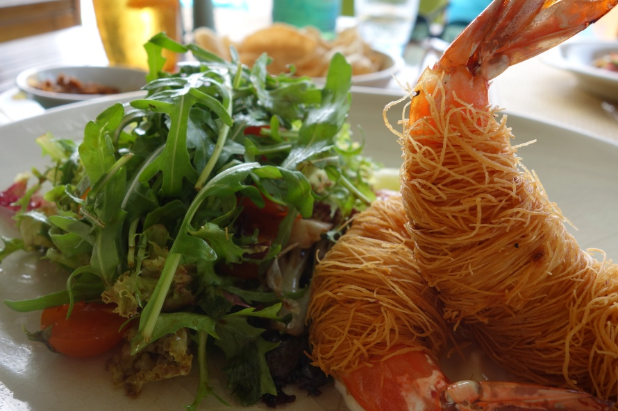 Asian style prawns at Majan, Grand Hyatt Muscat