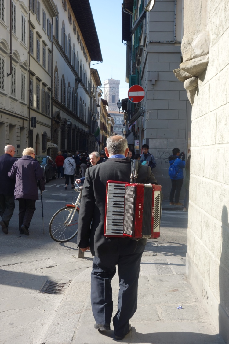 Street action in Florence