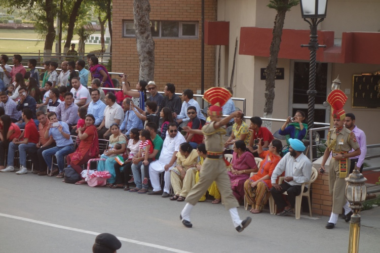 Closing the border ceremony on the Indo-Pakistani border
