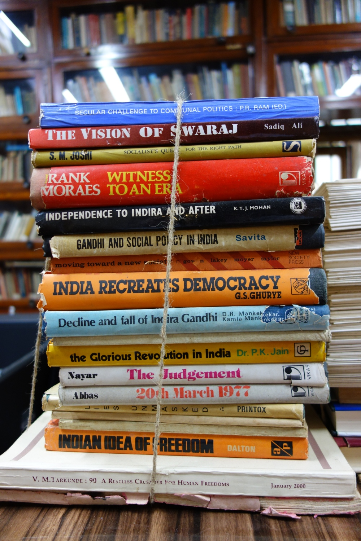 Library in Ghandi's home in Mumbai