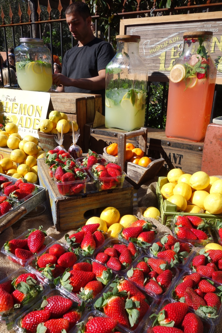 Fresh lemonade for sale at The Grounds of Alexandria in Sydney