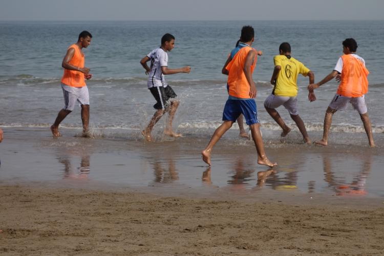 Beach soccer in Muscat, Oman