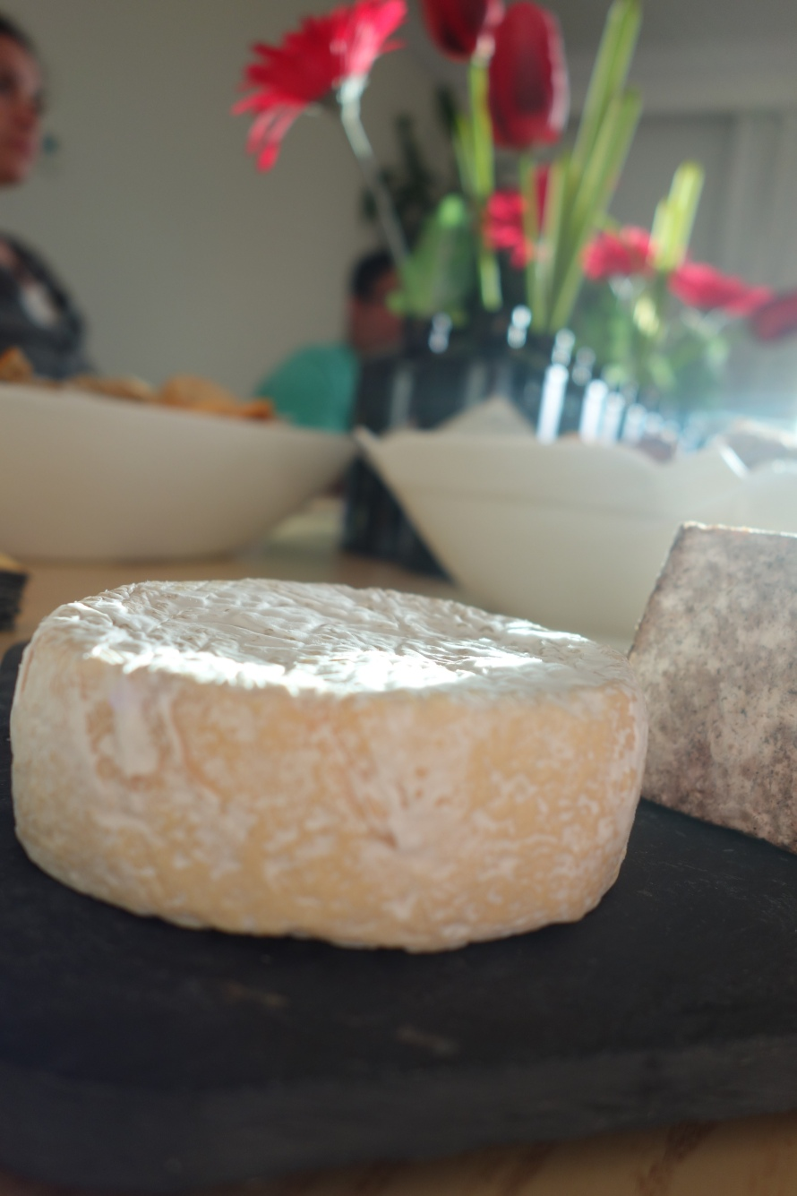 Green Hill from the Sweet Grass Dairy in Thomasville Georgia. This is a double-cream beauty made from pasteurized cow's milk, this soft-ripened Camembert-style cheese has a silky texture and a sweet, buttery flavor.