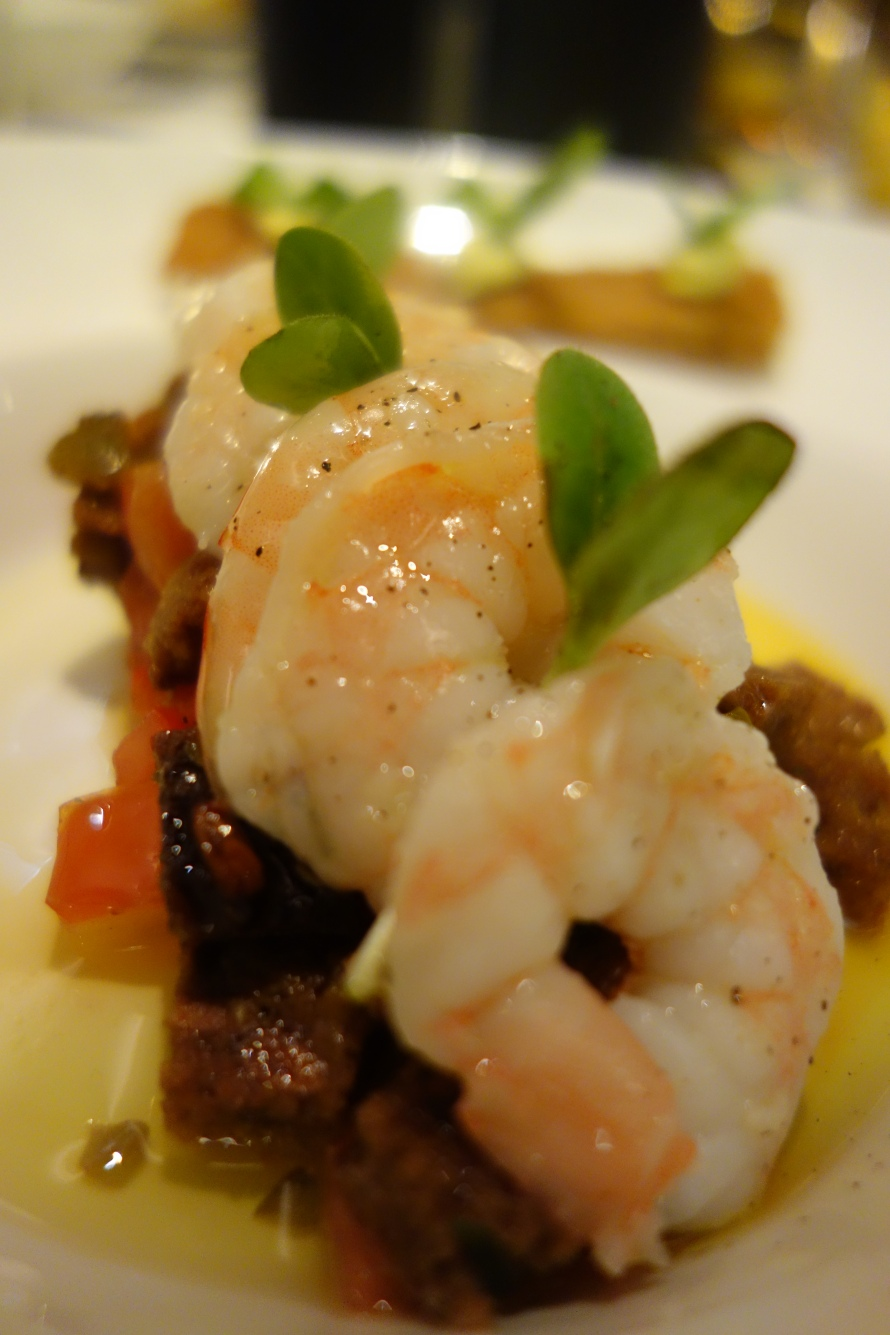 Shrimp Panzanella Salad at W Doha's Monthly Sommelier's Dinner