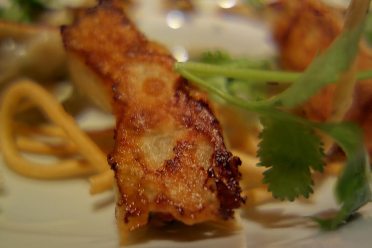 Potsticker dumplings with prawn and pork at Park Hyatt Beijing
