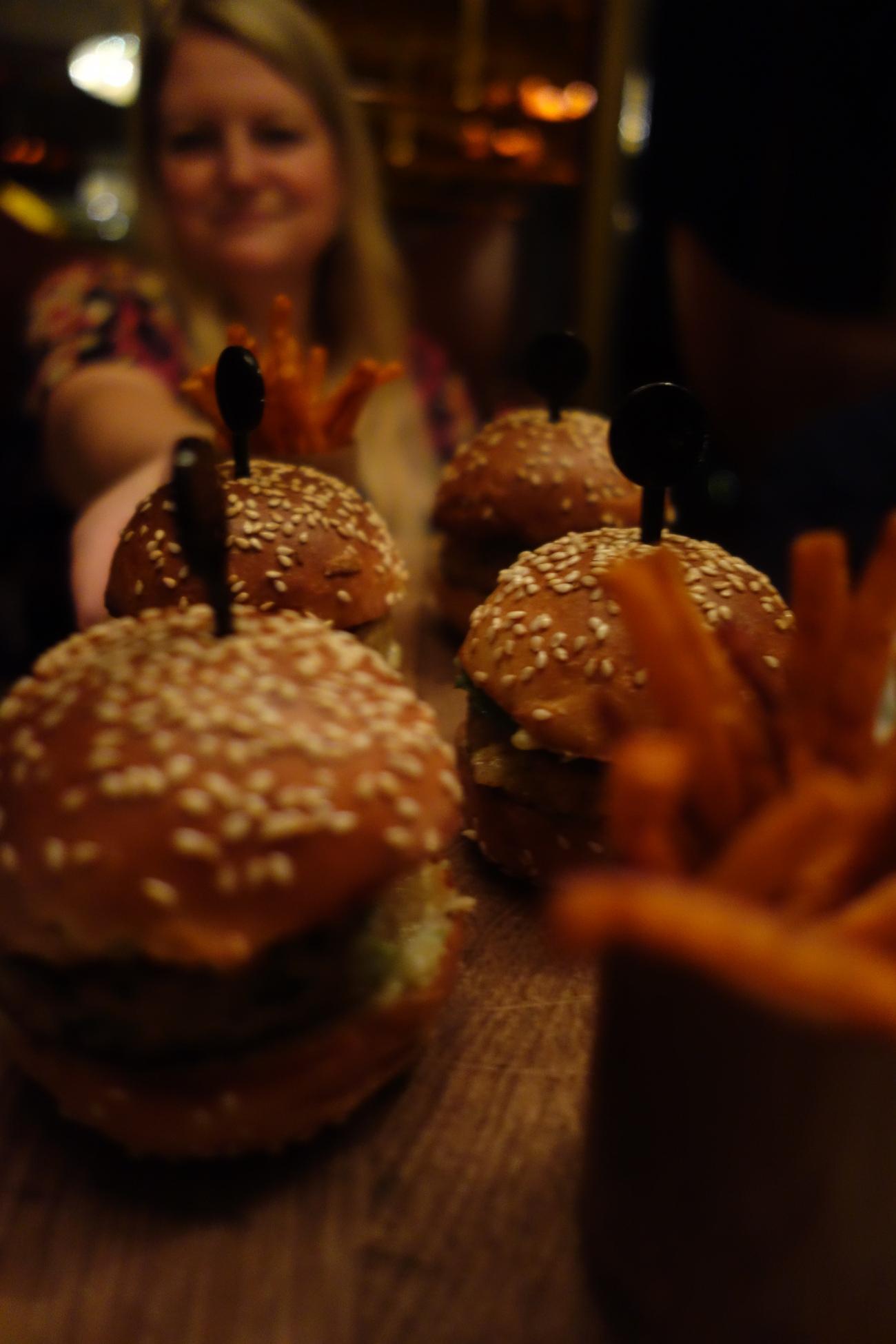 Crab burgers at Astor Grill