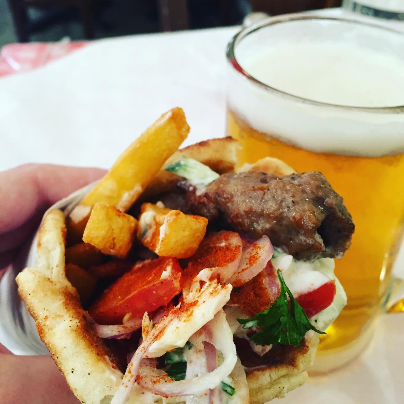 Athens food blog souvlaki