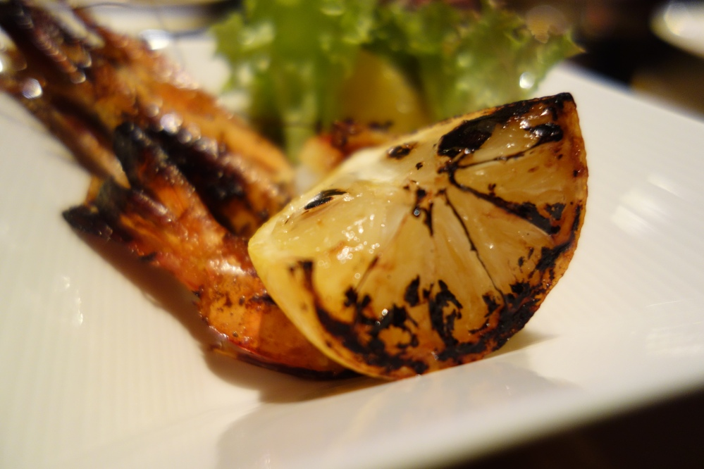 Grilled Prawn prepared by Chef Elias at St Regis Doha
