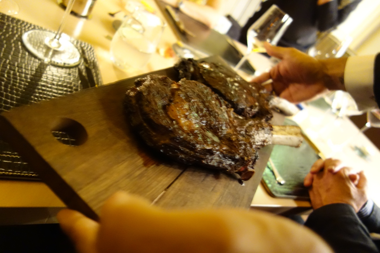Axeman. The Tmahawk at Astor Grill, St Regis Doha