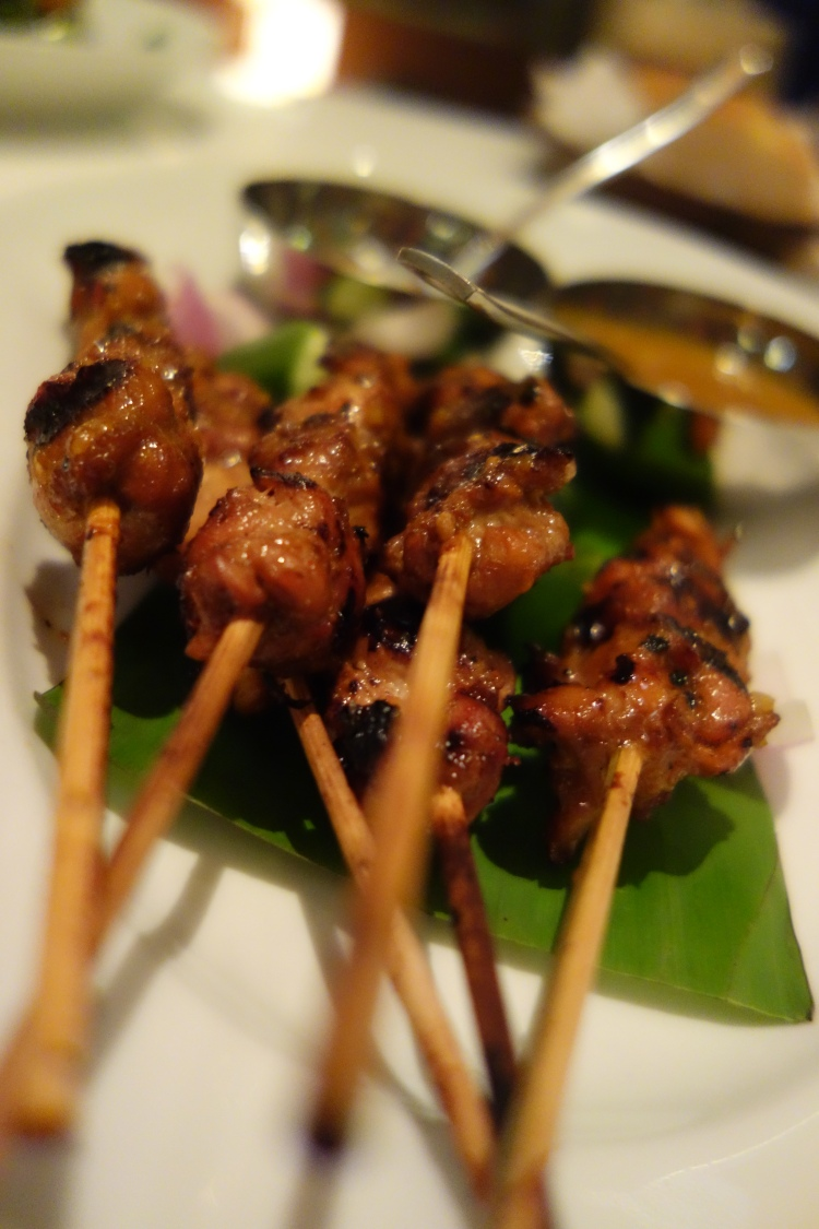 Chicken skewers at Flying Elephant, Park Hyatt Chennai