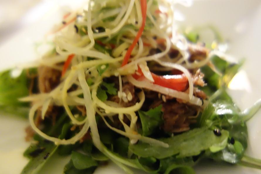 Crispy Duck salad at Opal by Gordon Ramsay
