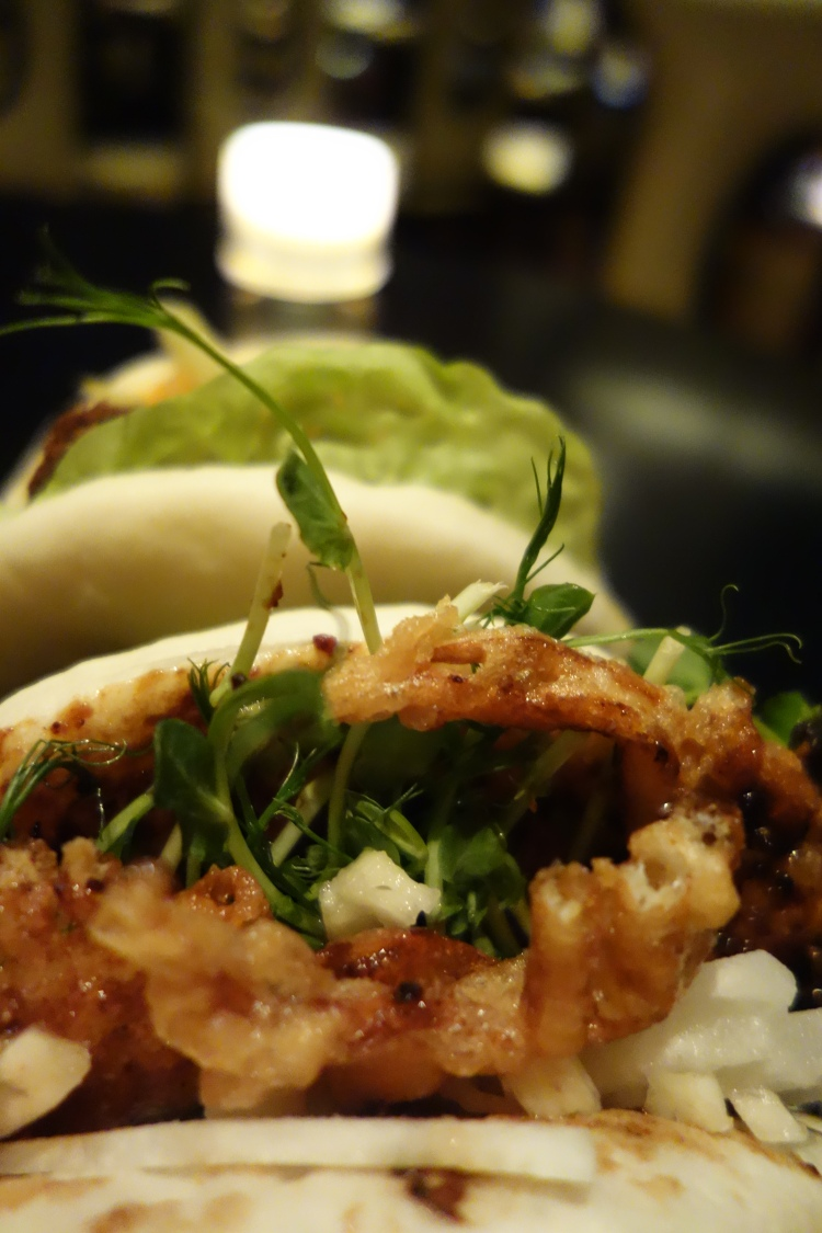 Soft shell crab steamed bun at Spice Market by John Georges Doha