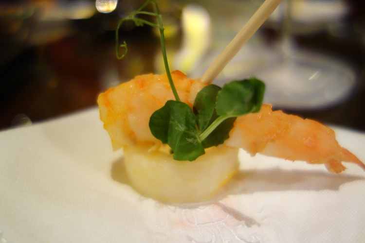Shrimp tapa at Vintage at St Regis Doha