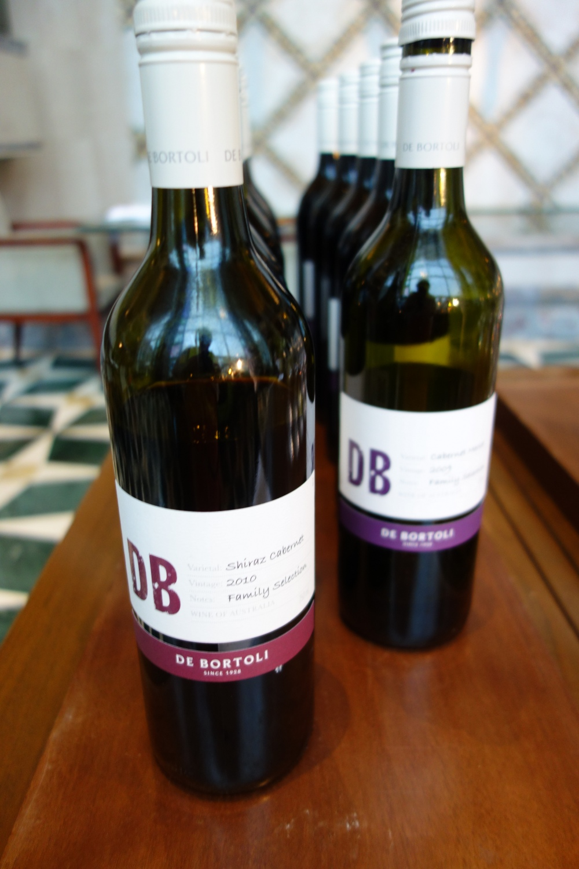 Old World meets New World...Aussie wine on display