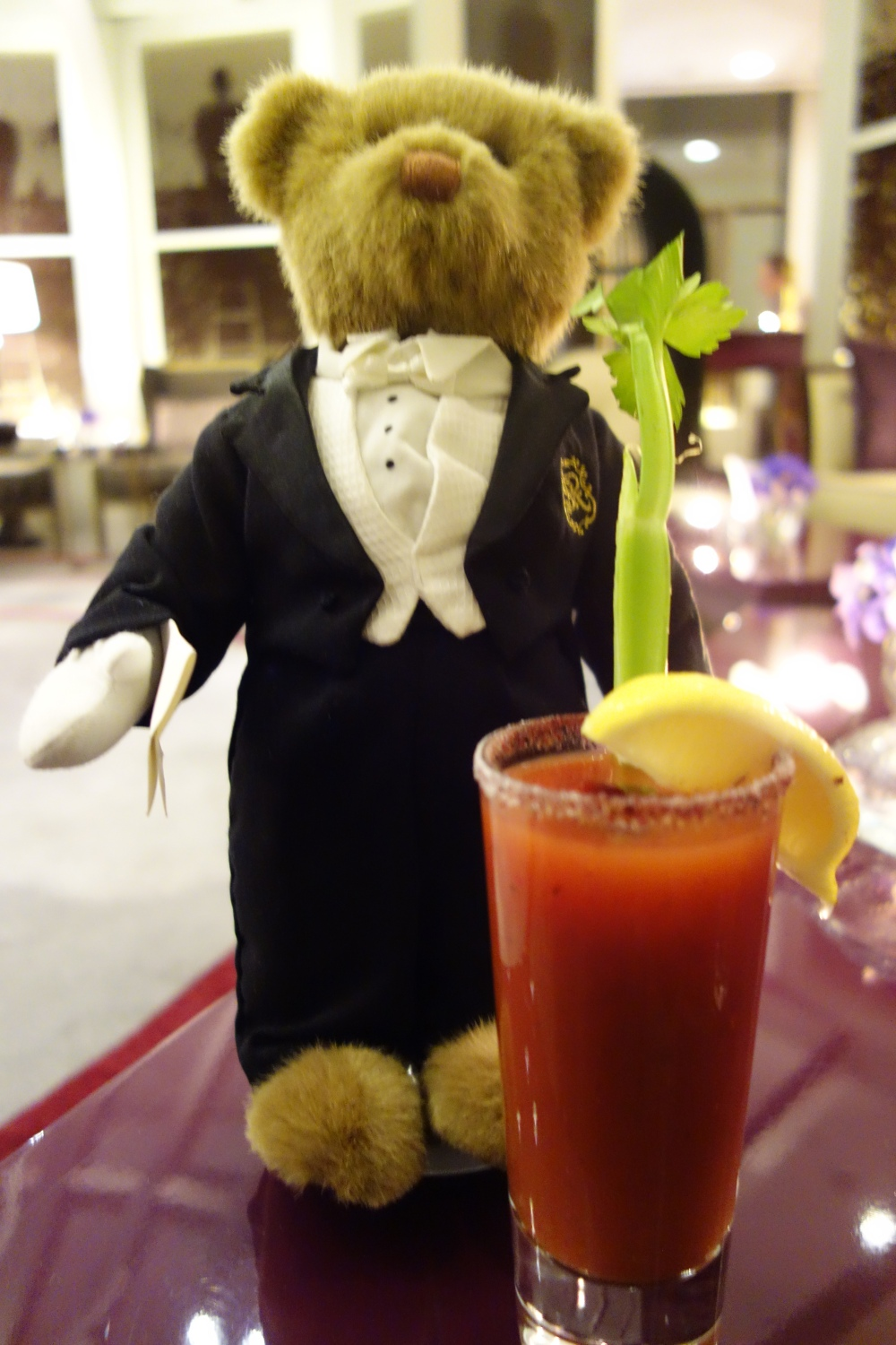 Best dressed man in the house...the St Regis Bear just arrived from NYC was the guest of honor