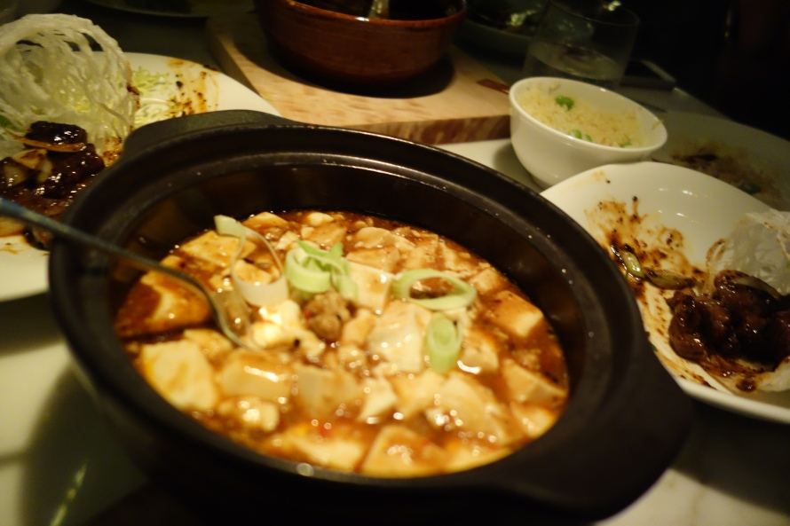 Mabo tofu with minced chicken