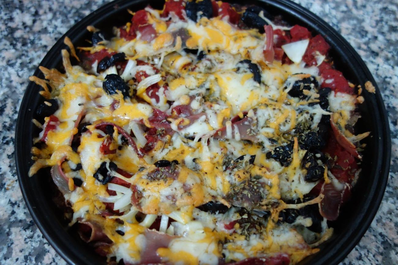 Meatza...with Etorki cheese