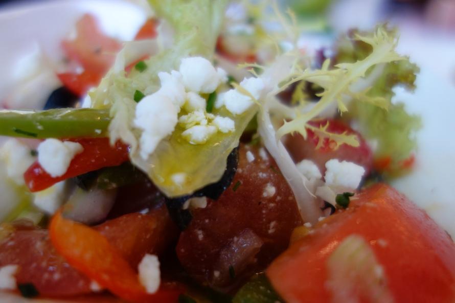 Greek salad - a palate cleanser