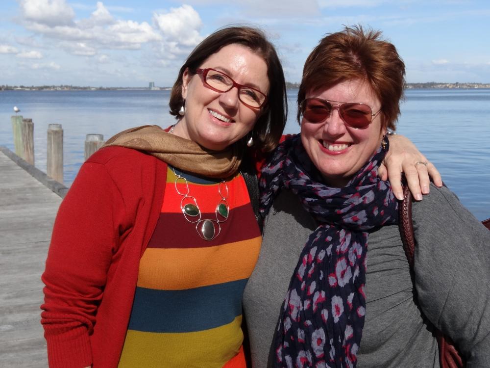 Rachel and Cynthia waterside