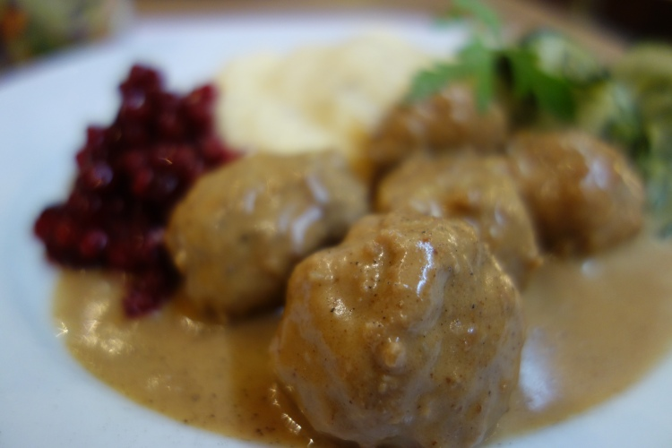 Swedish meatballs in Stockholm