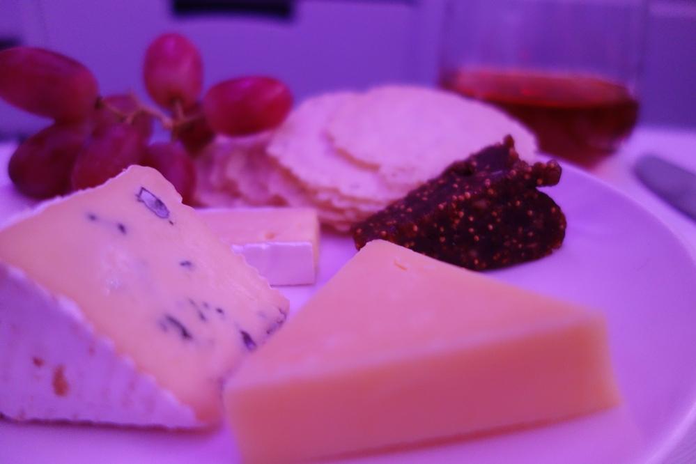 Virgin's Business Class Cheese Plate