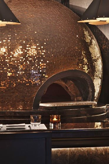 La Spiga's trippy disco pizza oven
