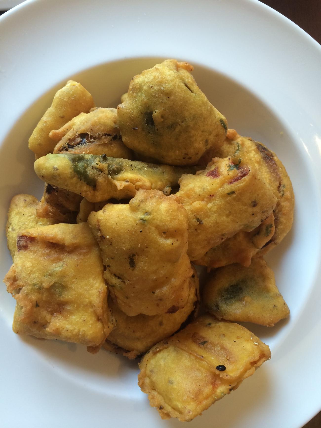 Paneer and dear. Pakoras featuring deep fried paneer