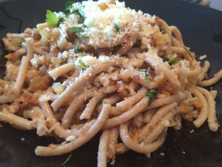 Pasta with breadcrumbs and pecorino