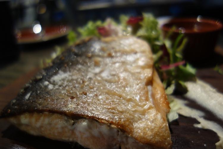 Crispy skinned salmon