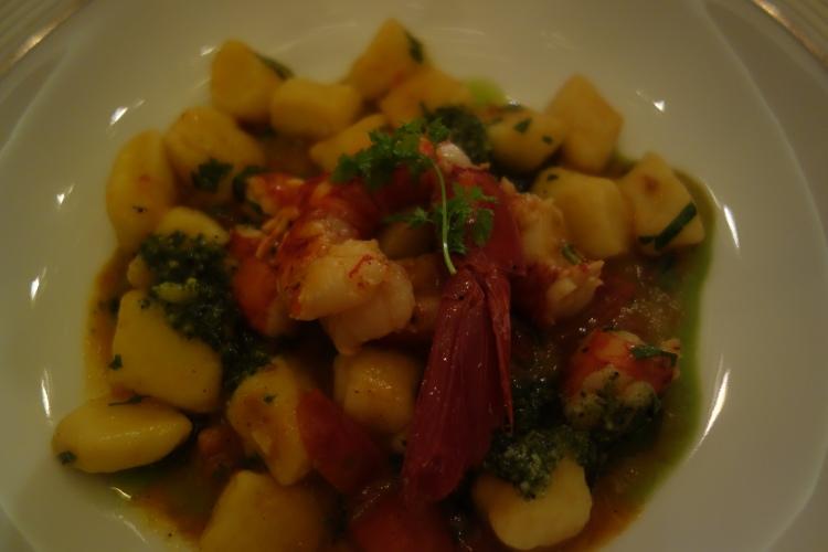 Shrimp gnocci