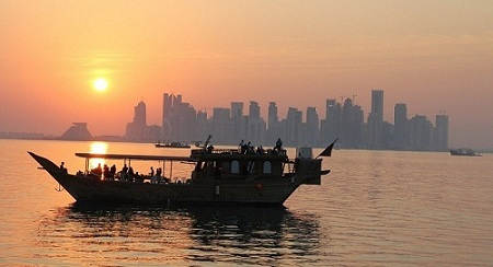 Doha dhow cruise at sunset