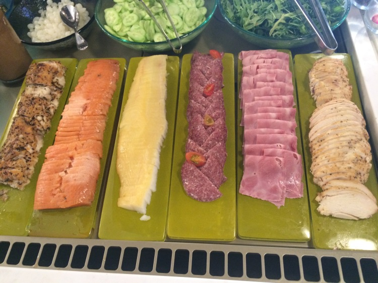 Cold cuts as far as the eye can see including house smoked salmon