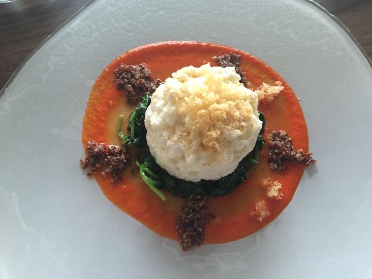 Egg whites and quinoa