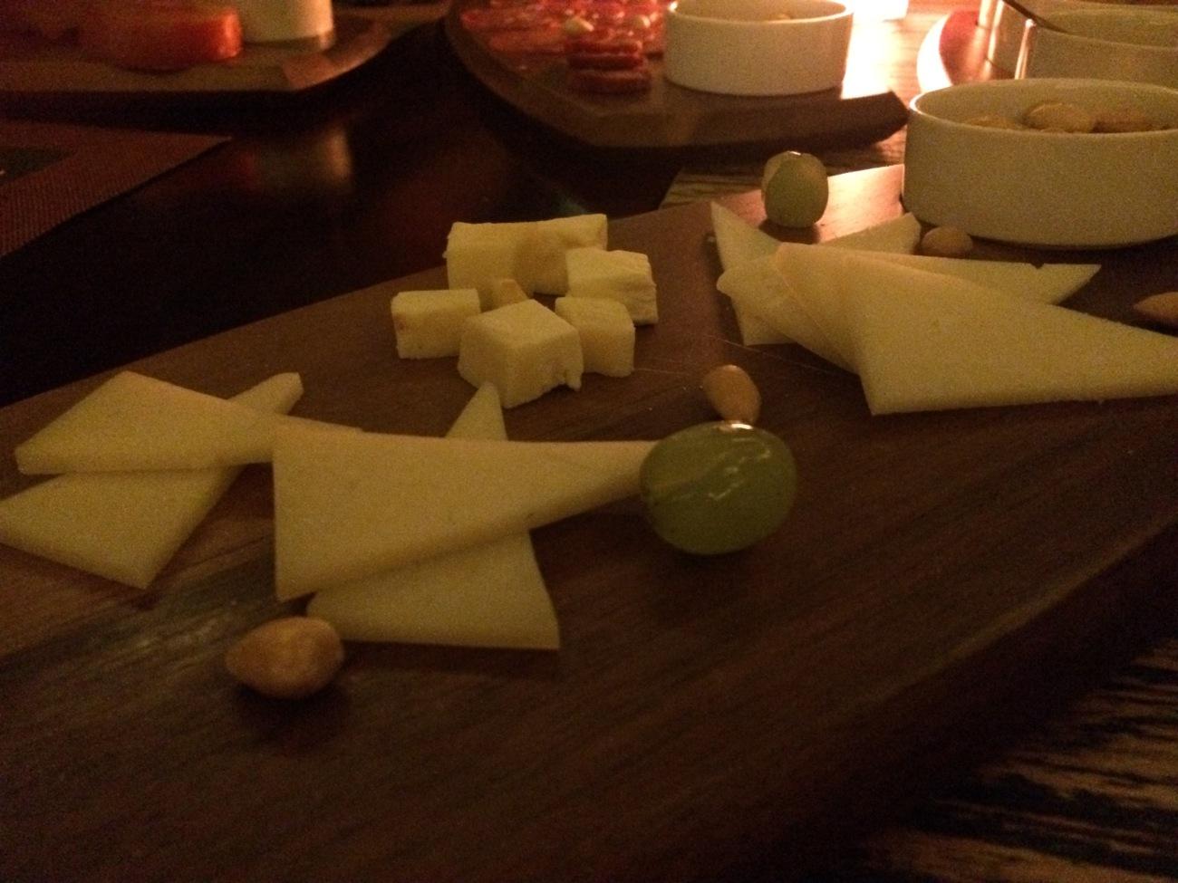 Trio of Spanish cheeses