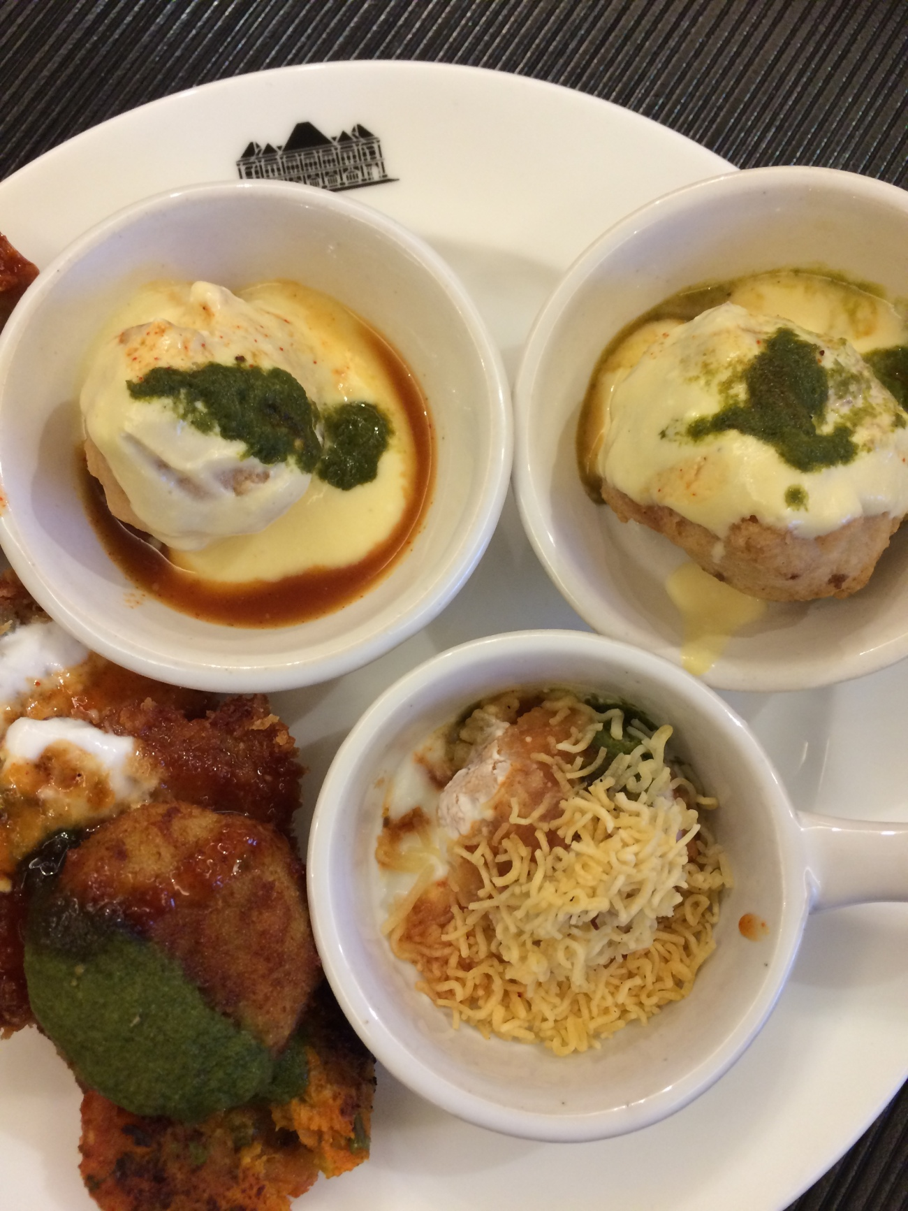 A trio of chaat at Grand Hyatt Goa