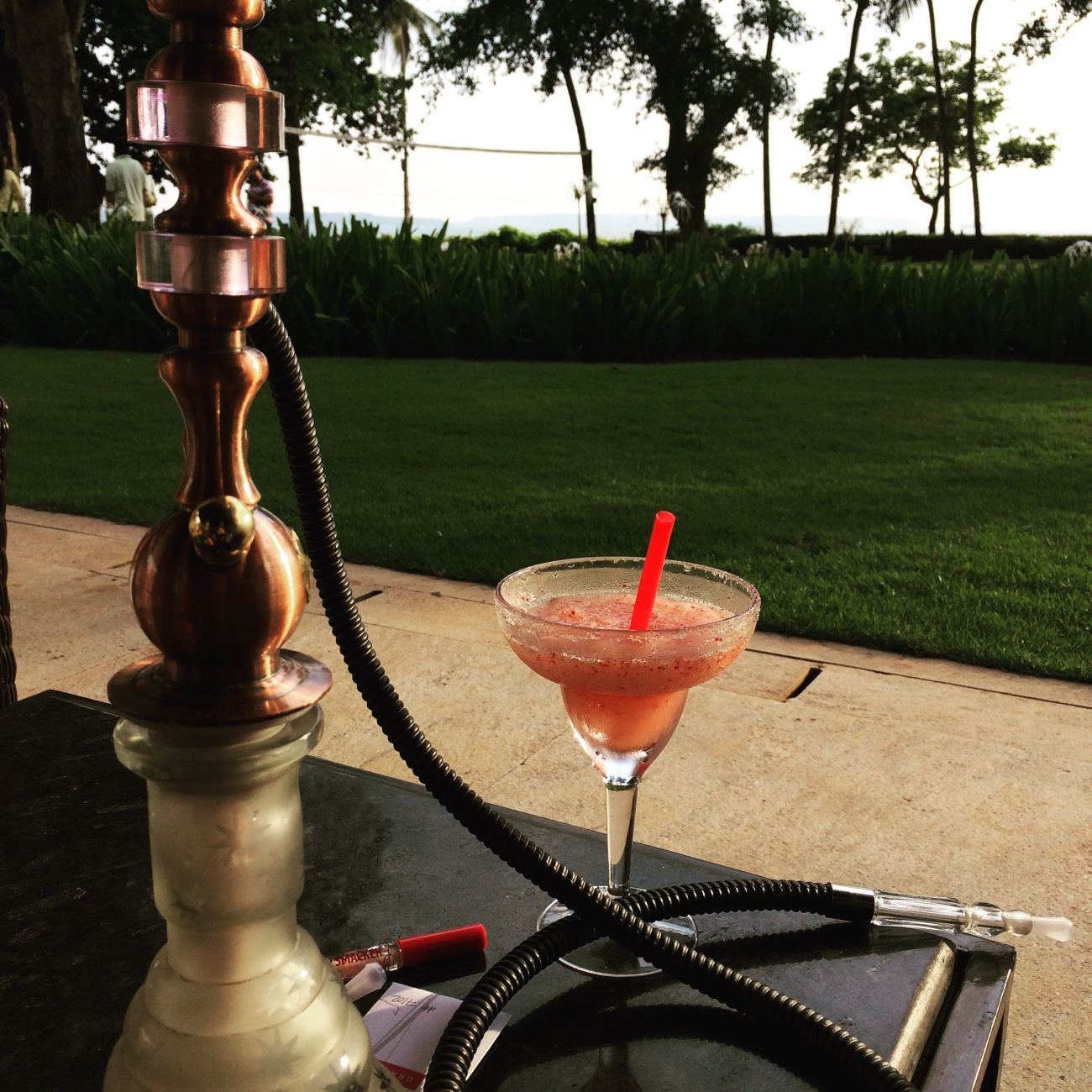 Shisha, cocktail and a view