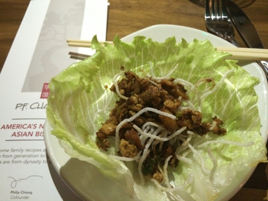 The chicken lettuce cup - their biggest seller