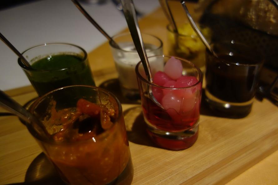Indian condiments at Melia Doha