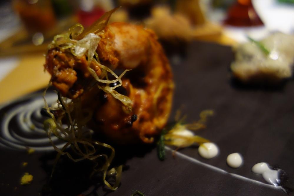 Tandoor style prawn starter