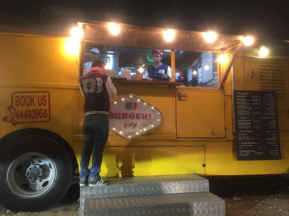 food truck, food blog, burger, cheese, Qatar