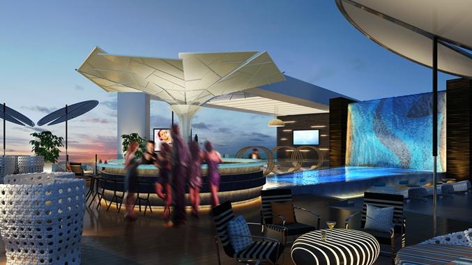 lounge, view, Qatar, food blog