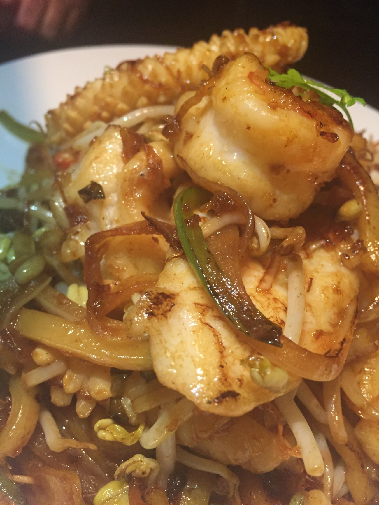 seafood noodles and food blog and doha