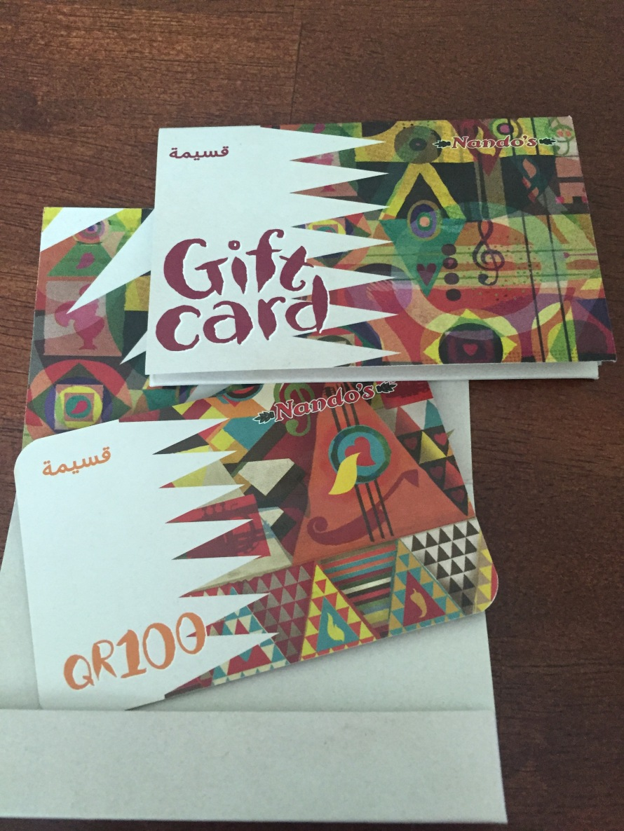 Nandos giveaway chicken life on the wedge qatar blog