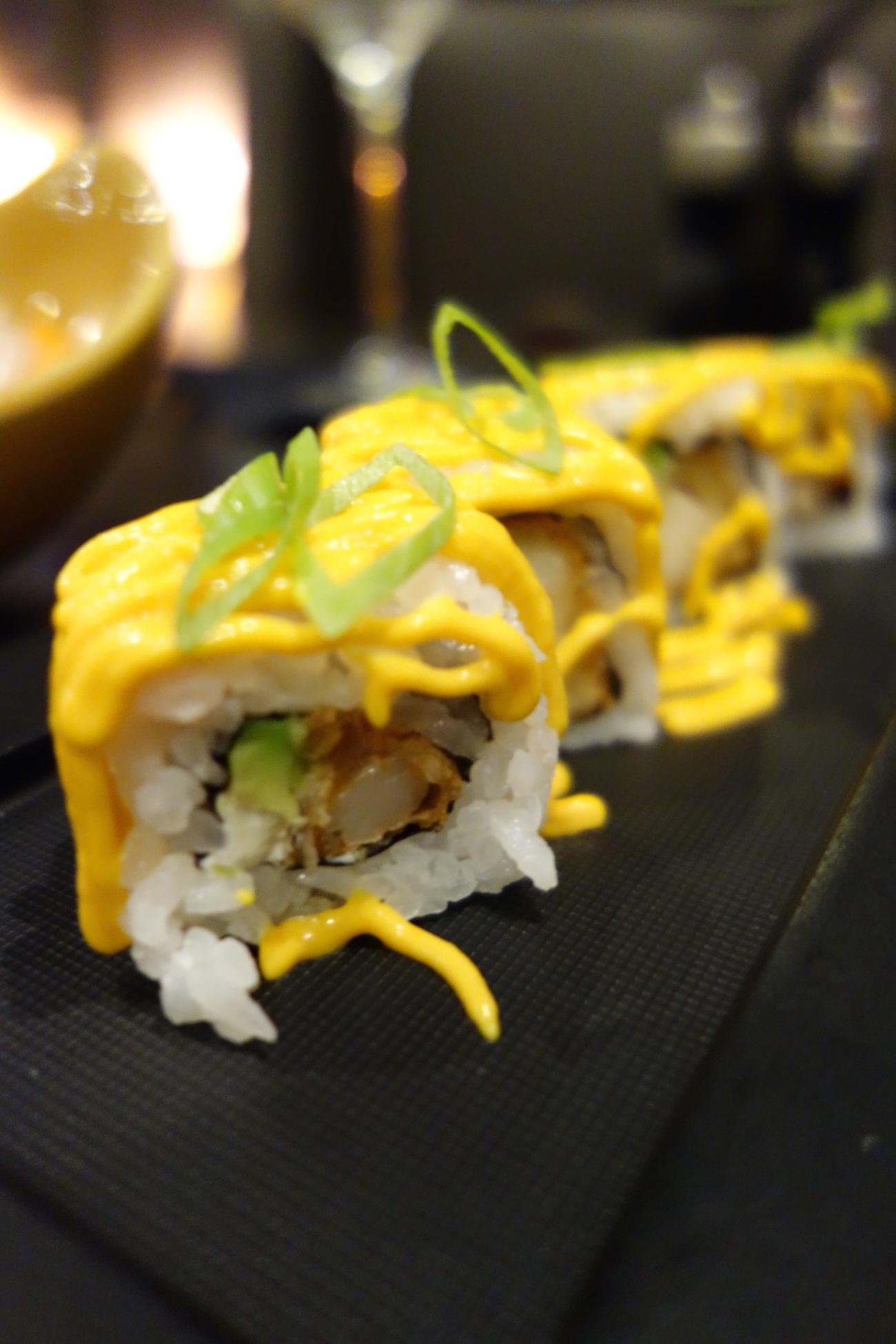 sushi rolls at toro toro