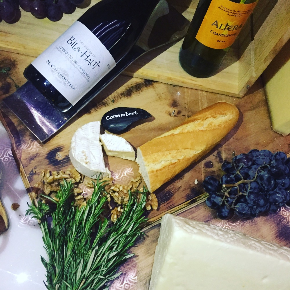 wine and cheese at Prime Doha