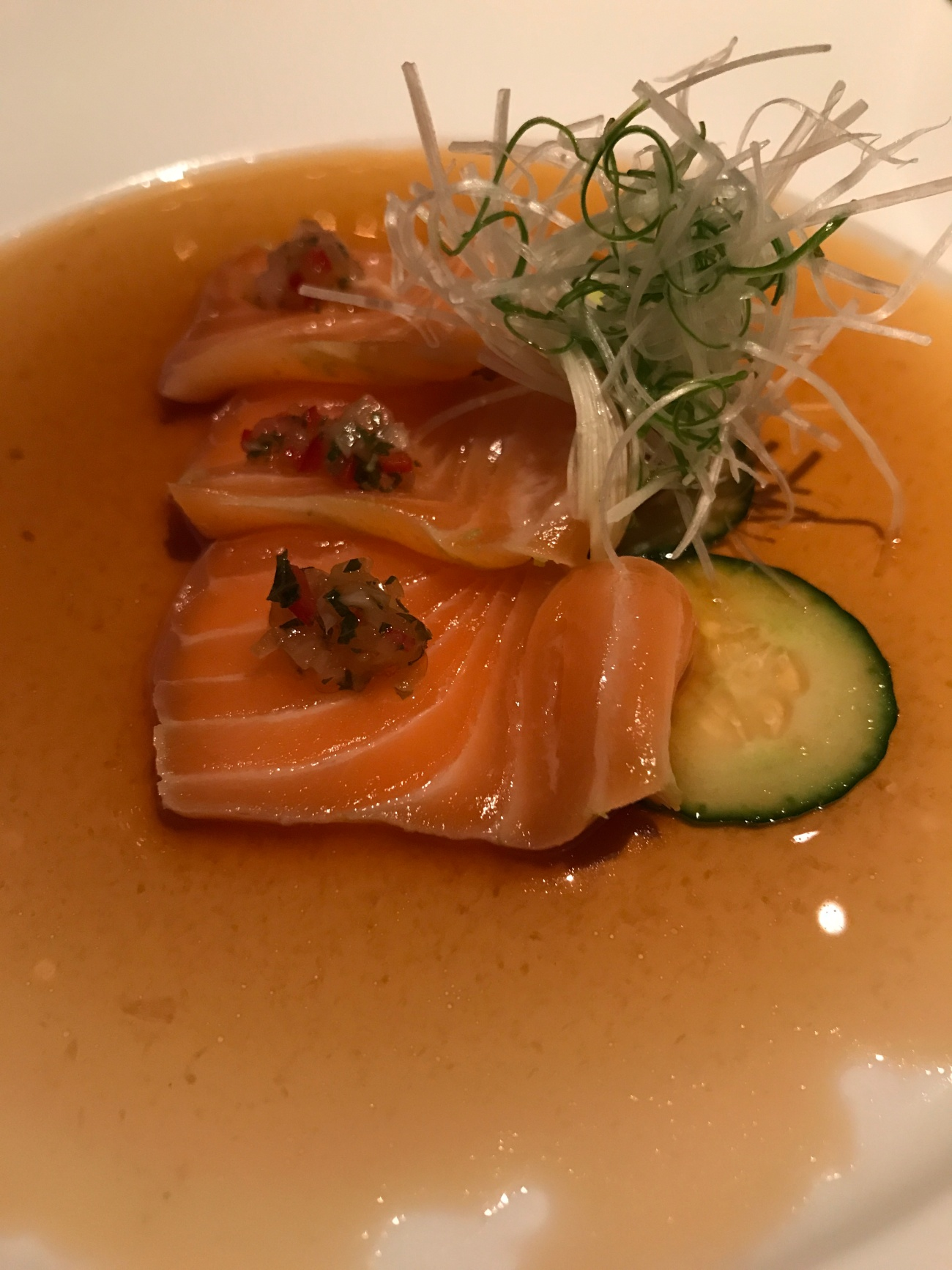Salmon at Nobu Doha